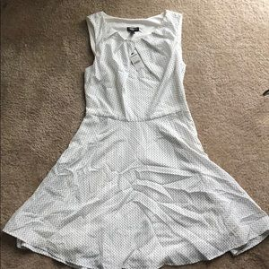 NWT - A-line dress white with black heart pattern